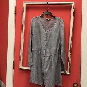 Flax Gray Linen Dress NWOT